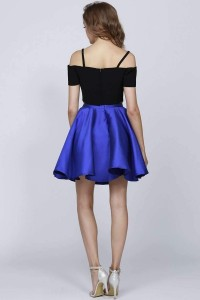 Two Piece Short Cold Shoulder with Black Top