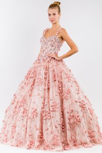 Sweetheart 3D Floral Quinceanera Dress