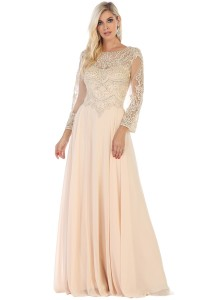 Long Sleeve Mother of the Bride dress