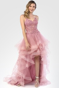 Laced Empire Waist Dress with Ruffled Skirt