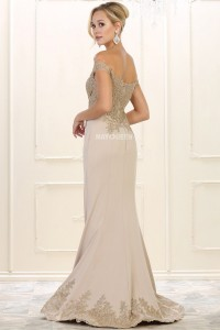 Golden Embroidery Trumpet Gown